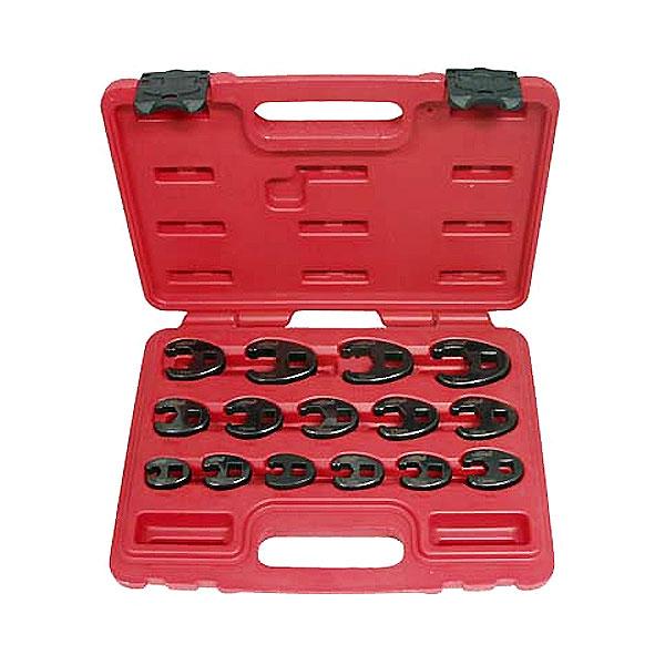 Комплект разрезных ключей15пр. (8-24мм) присоед. квадрат 3/8.