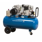 Nordberg NCE100/400-220 Компрессор поршневой однофазный с ременным приводом, объем ресивера 100 л